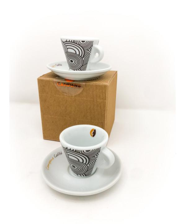 set 2 cups Campana Caffè